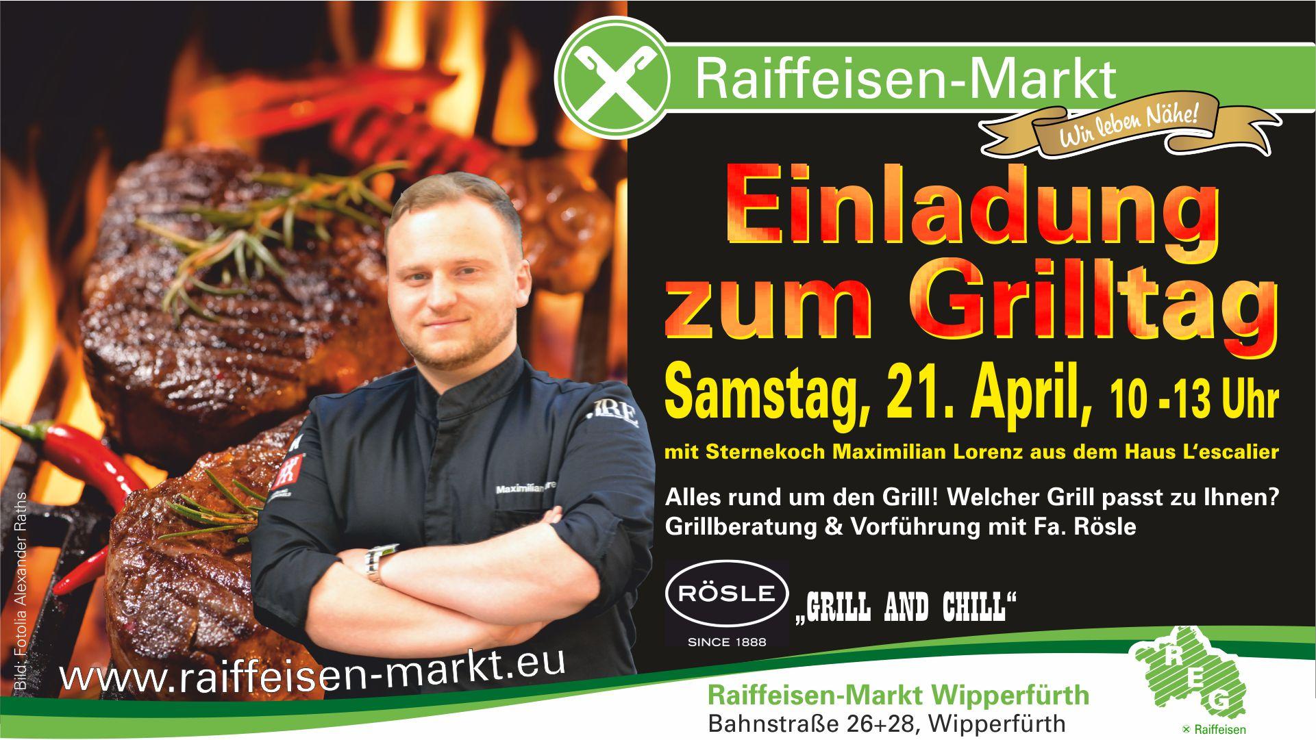 Einladung zum Grilltag Raiffeisen-Markt Wipperfürth
