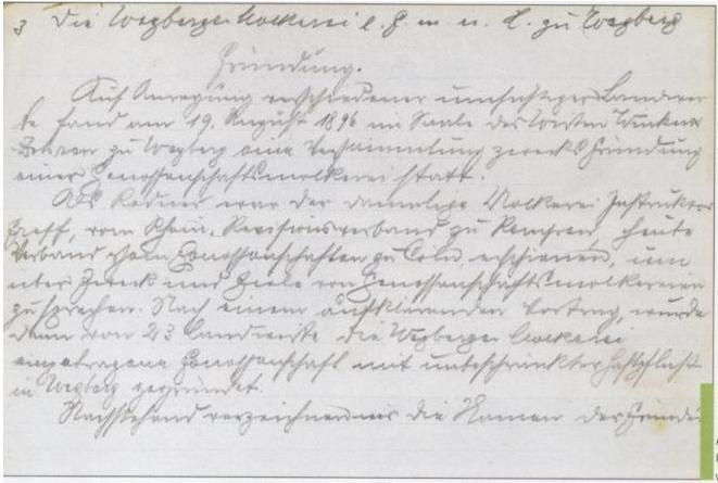 1896 Gründungsprotokoll